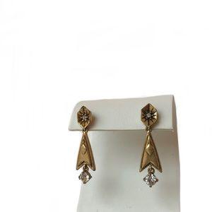 J. Crew Vintage Brass Starburst Earrings